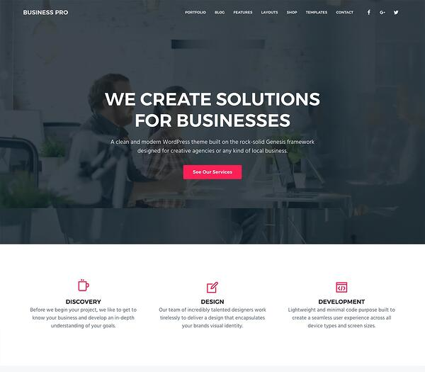 Business pro business wordpress theme