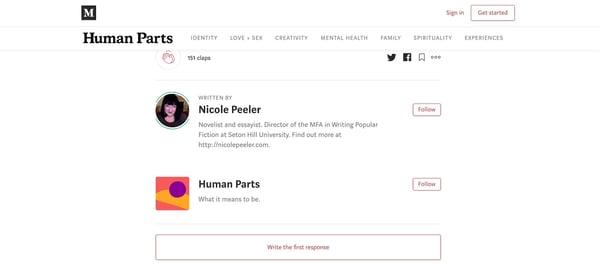 Medium social bookmarking site profiles drive traffic to website.