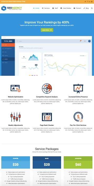 Total WordPress theme SEO Demo site