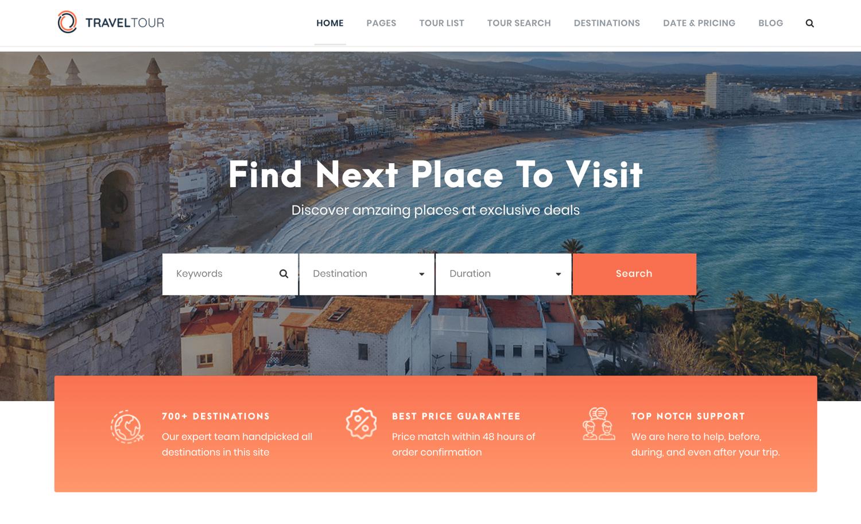 Travel Tour theme to create travel business site using WordPress