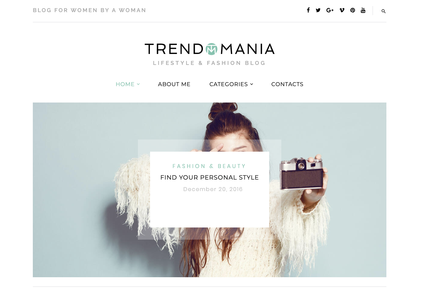 Trendomania bootstrap WordPress theme TemplateMonster