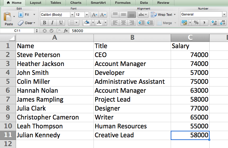 Format numbers into currency in Excel