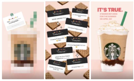 Starbucks Instagram story interactive