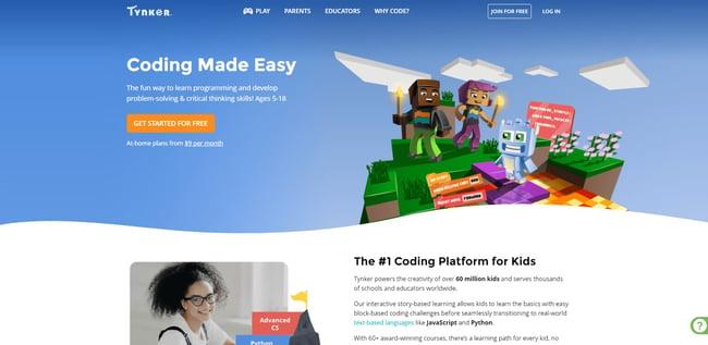 best online coding bootcamp: Tynker