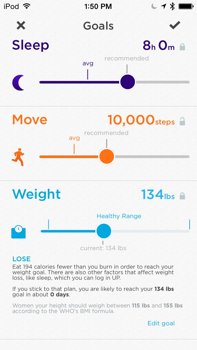 Jawbone UP mobile app for tracking your health and fitness