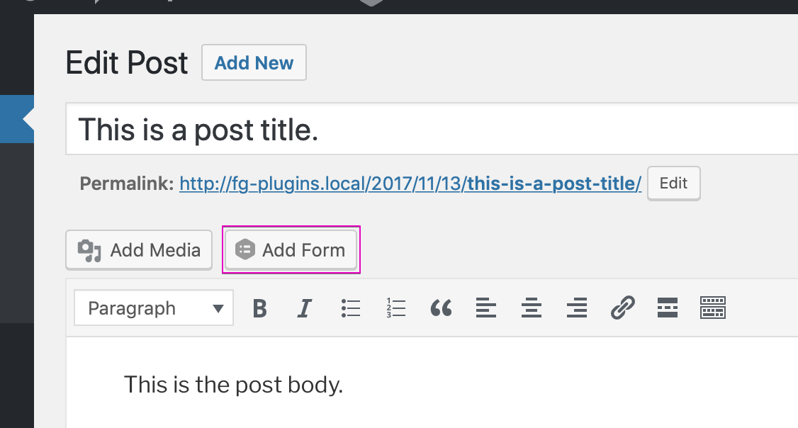 Add a form to your site with Gravity Forms, the WordPress plugin.