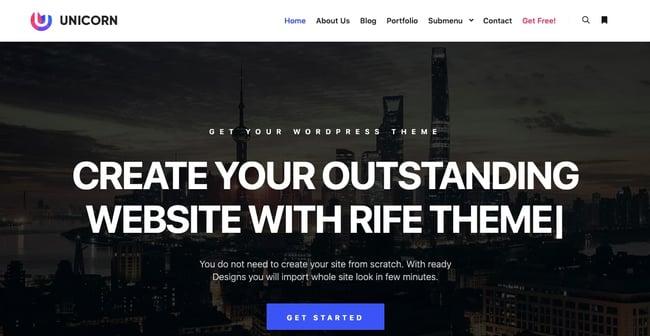 creative wordpress themes: Rife
