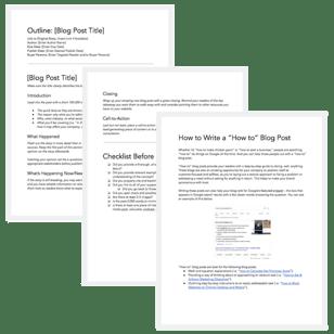 blog post templates for google docs