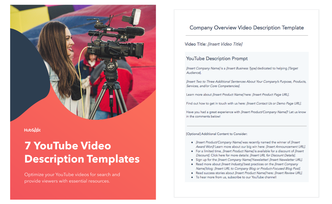 HubSpot's 7 YouTube Video Description Templates