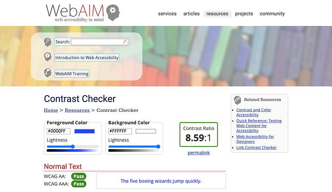 Using Contrast checker can help you make accessible choices when changing the text background color in CSS