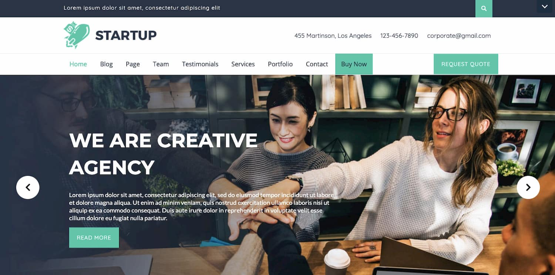 VW Startup Pro WordPress theme demo
