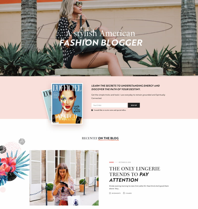 Voux wordpress theme demo with advertising space