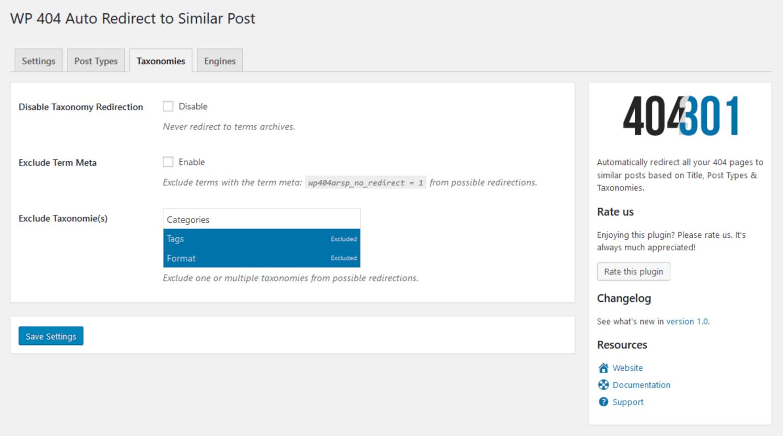 WP 404 Auto Redirect to Similar Post plugin for best 404 redirect plugins WordPress