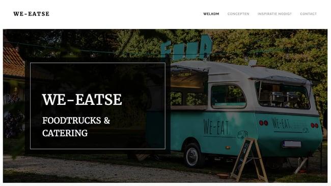 We-Eatse website built with webnode websit builder