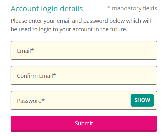 Login form which uses placeholder text rather than labels.