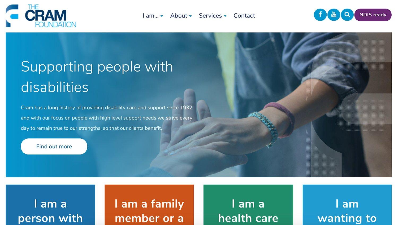 cram foundation web accessibility example