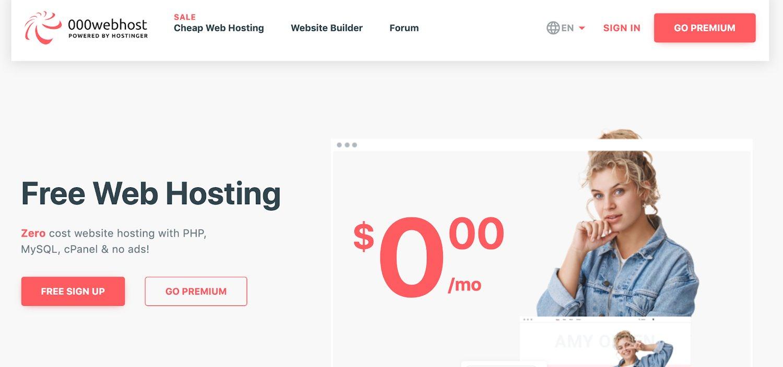 000webhost free web hosting service