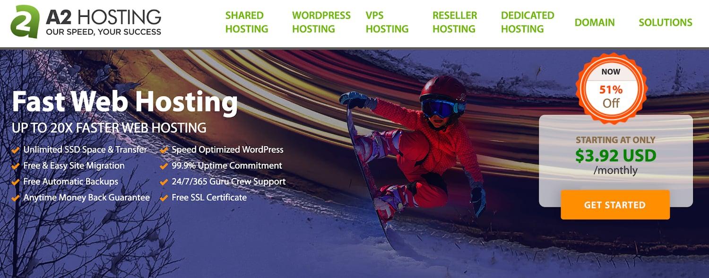 a2 hosting web hosting service