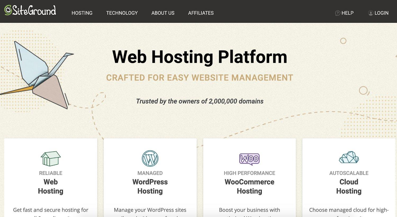 siteground web hosting service