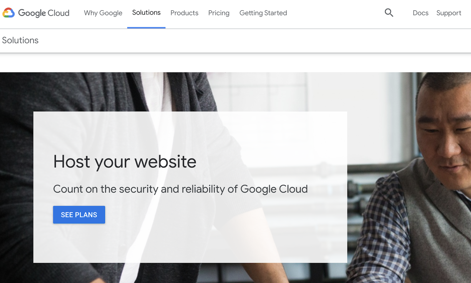 google cloud web hosting