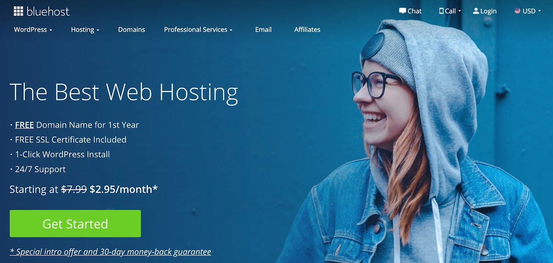bluehost web hosting service