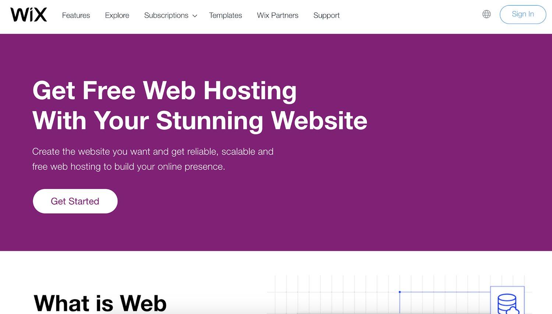 wix web hosting service