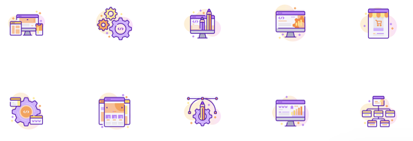 Web development free icon set
