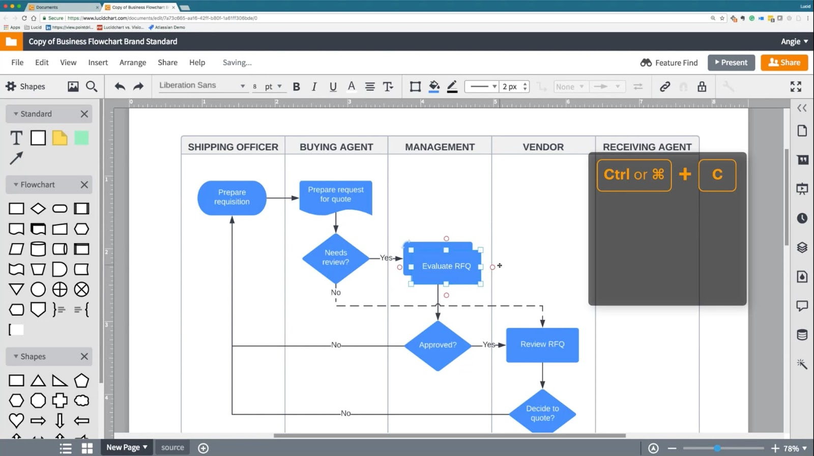Lucidchart value stream mapping