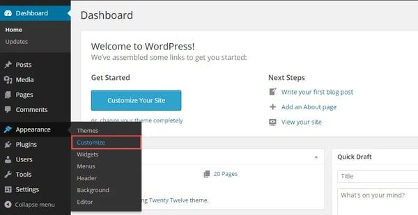 Making a hamburger button in WordPress dashboard.