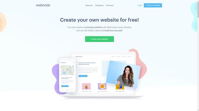 the webnode homepage