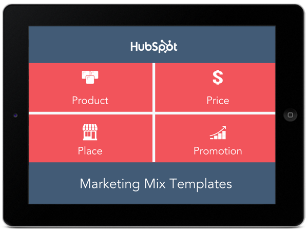 Four P's of marketing templates.