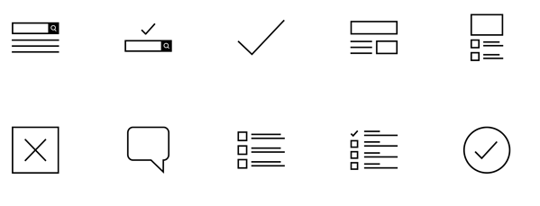 Wireframe free icon set