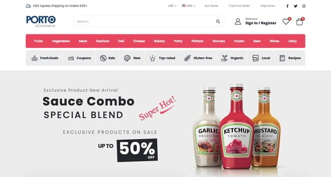 WooCommerce theme Porto demo