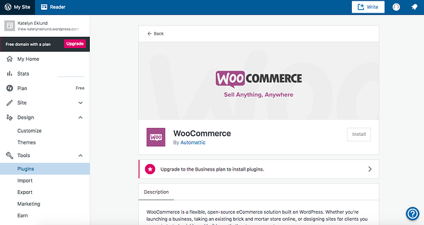 You can install the woocommerce plugin directly from your WP dashboard