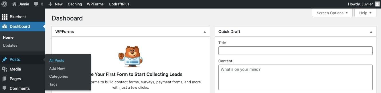 Navigate to Posts > All Posts to start process for changing URL  slug