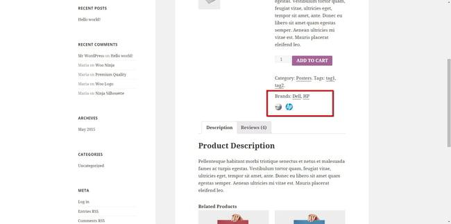 YITH WooCommerce Brands Add-on plugin demo