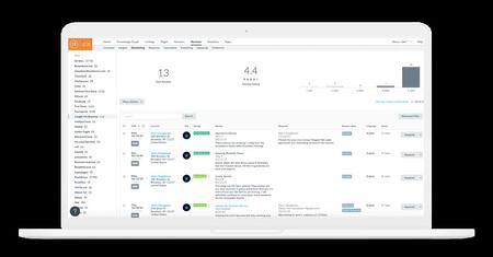 yext reviews example review management software tool dashboard