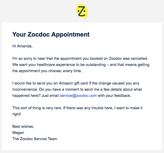 cover letter for zocdoc