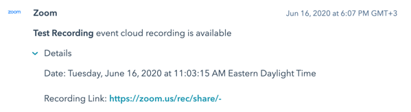 Graphic of Test recording availability notice