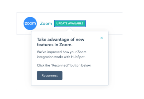 Zoom Reconnect dialog box