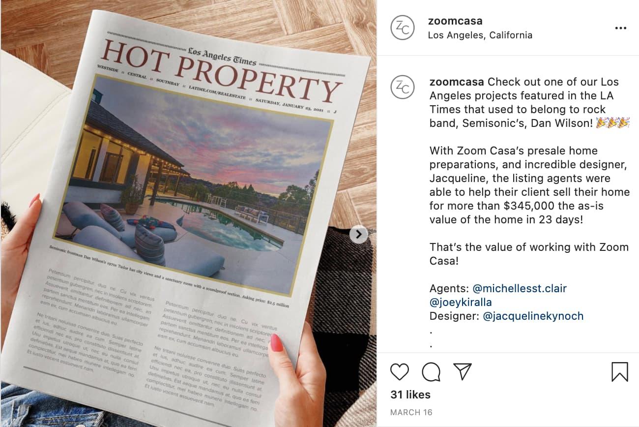 Zoomcasa Real Estate Ad