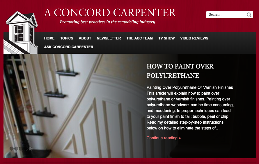 A Concord Carpenter Homepage