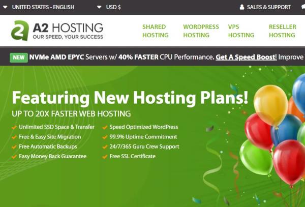 a2hosting shared hosting for wordpress