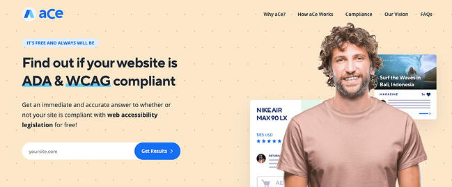 aCe is a free web accessibility testing tool