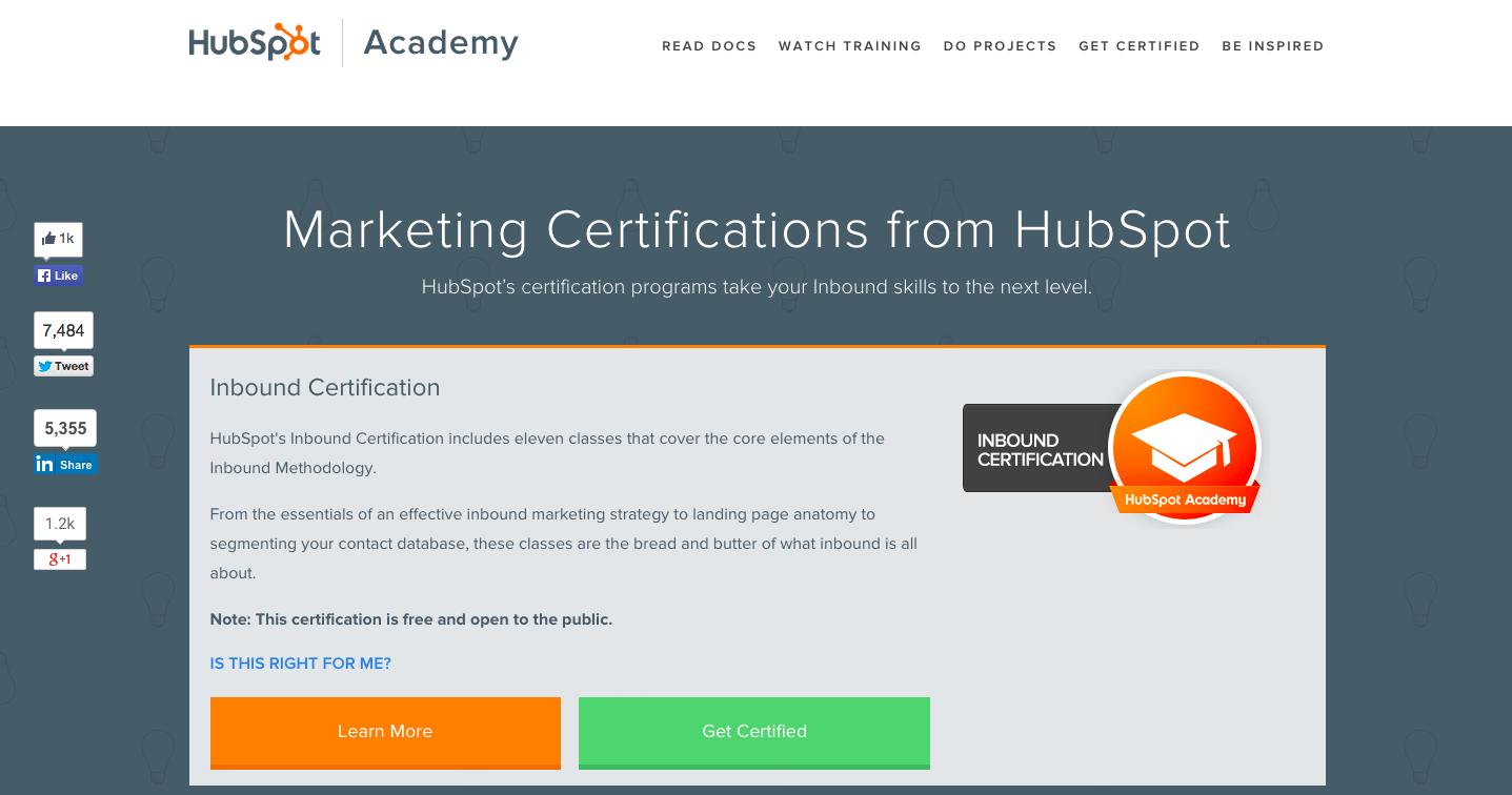 Academy Certification
