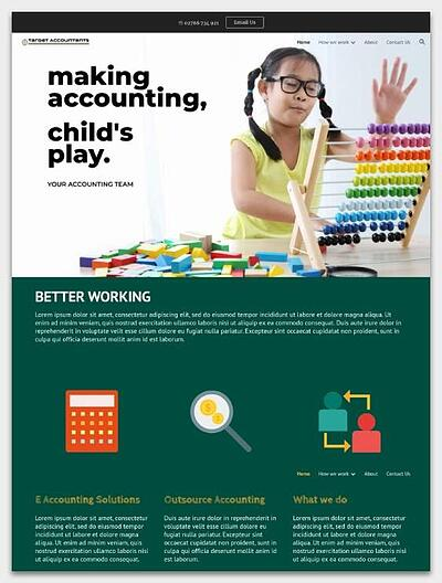accounting team google sites template