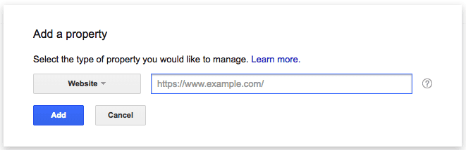 Empty field for adding a sitemap to Google Search Console to crawl a new website