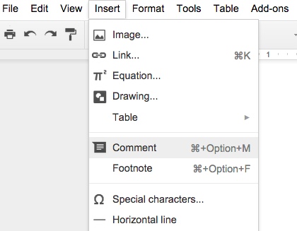 How to Comment in the margins of a Google Doc