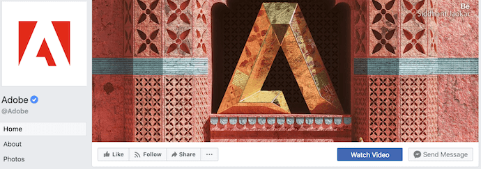 Adobe Facebook Business Page