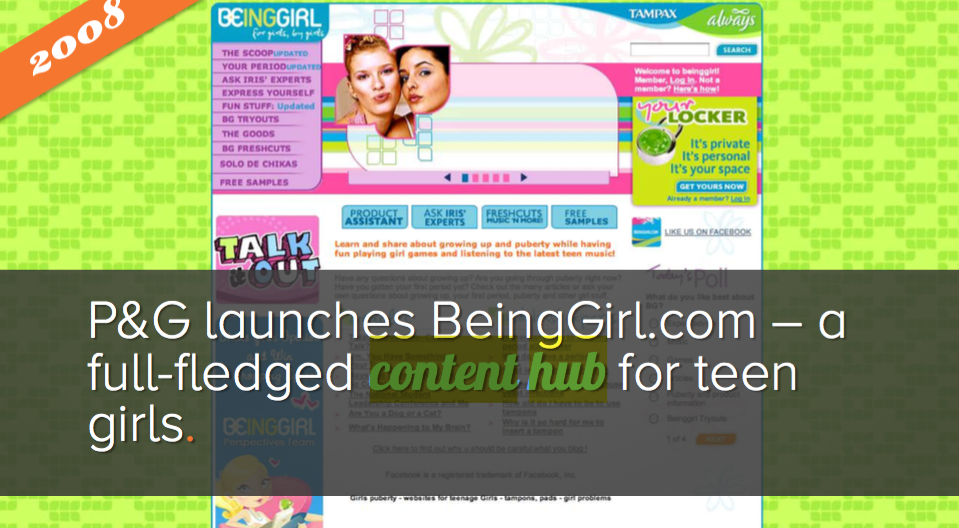 advertising history procter gamble content hub beinggirl